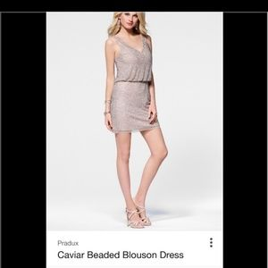 Cache caviar beaded blouson dress